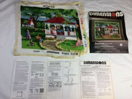1982 Dimensions Partially Completed needlepoint Kit 2204 Concert Park No... - $32.71
