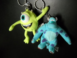 Monsters Inc Key Chain Set of Two Mike and Sulley Disney Pixar Kraft Promotion - $8.99