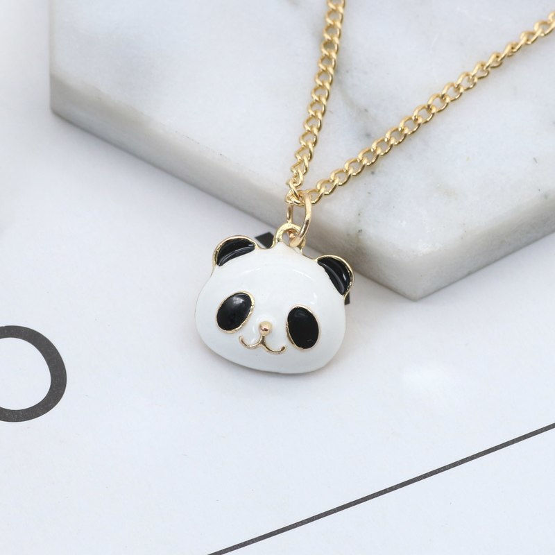Panda Penddants&Necklaces Stainless Steel Chains Vintage Charms Chokers Necklace