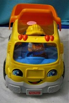 Fisher-Price Little People Dump Truck Foreman Included EUC Talking - $18.76