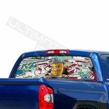 Sticker Bomb Skin Window See Thru Stickers Perforated for Toyota Tundra 2016  - $59.80