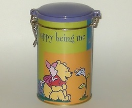 Happy Being Me Winnie Pooh Piglet Latch Tin - $8.00