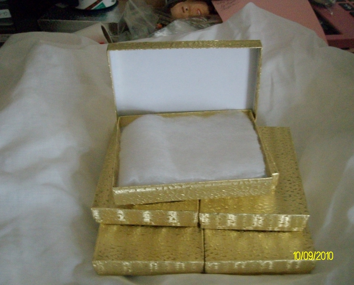 Necklace & Earring Boxes,   Gold  ( 6 )