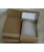 Pendant or Charm Boxes, Flat Brown or beige  ( 6 ) - $6.25