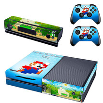 Xbox One Console Decal Skin Super Mario Bros + 2x Controller Pad Stickers Cover - $12.41