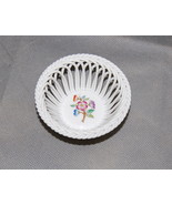 Herend Hungary Porcelain Giftware Pattern Openwork Round Basket 7373 - $50.00