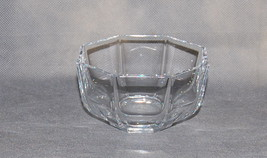 Crystal Sevres French Eight Sided Small Glass Serving Bowl - $65.00