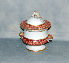 Masons Patent Ironstone China Pearlware Red Flower Border Urn Shape Sauc... - $595.00