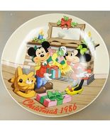 Limited Edition #5214 Disney Christmas 1986 collectors plate Mistletoe M... - $35.01