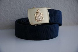 US Navy CPO Blue Belt & Buckle  - $14.99