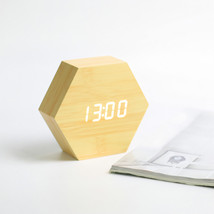 Wooden Hexagonal Alarm Clock - Father's Day Gift - $22.99