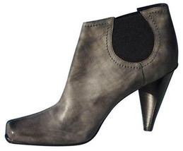 Donald Pliner Leather Lead Gray Boot Shoe Pump New Stretch Elastic NIB $395 - $177.75