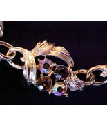 Vintage Pink & Brown Aurora Borealis Rhinestone... - $12.95