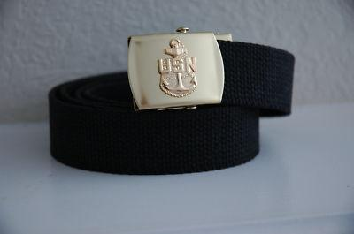 Primary image for US Navy CPO Black Belt & Buckle