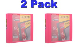 Exceed 2 Inch Injection Binder, Pink 540 Sheets Heavy Duty Cover 1 Touch... - $22.40 CAD