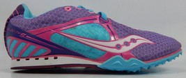 Saucony Velocity 5 Size 7.5 M (B) EU 38.5 Women's Track Shoes Purple 10188-3