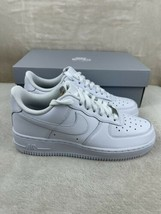 Nike Air Force 1 07 Low Triple White Casual Shoes 315115-112 Women's Size 8 - $99.00