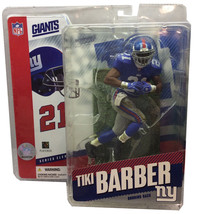 Tiki Barber McFarlane Action Figure NFL Series 11 New York Giants Unopened  - $17.70