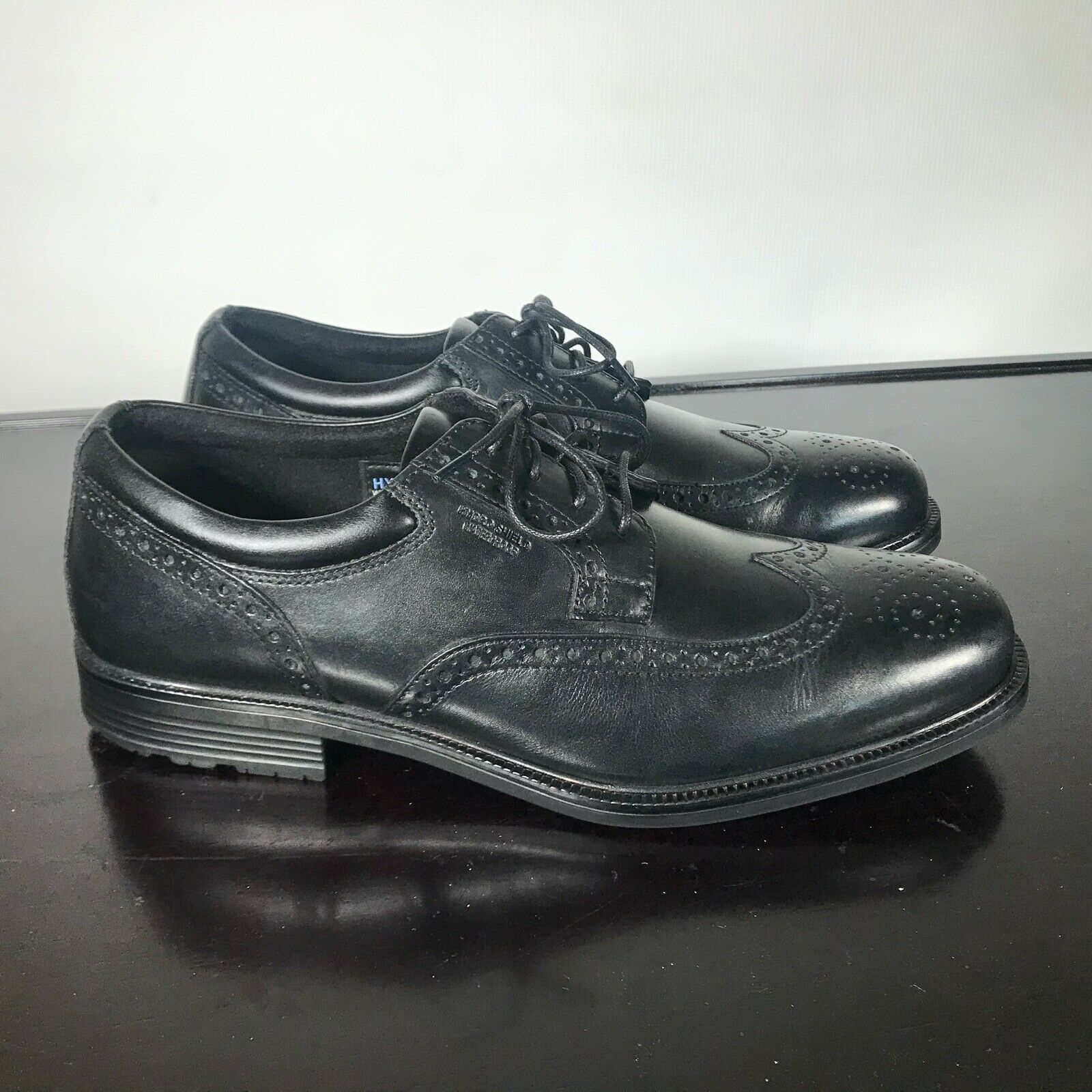 Primary image for RockPort Walkability Men US 11W Wingtip Adiprene Leather Hydro-shield Waterproof
