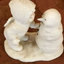 """Snowbabies With Snowman Why don't you talk to me Porcelain Figurine 4"""" Tall - $13.08"""