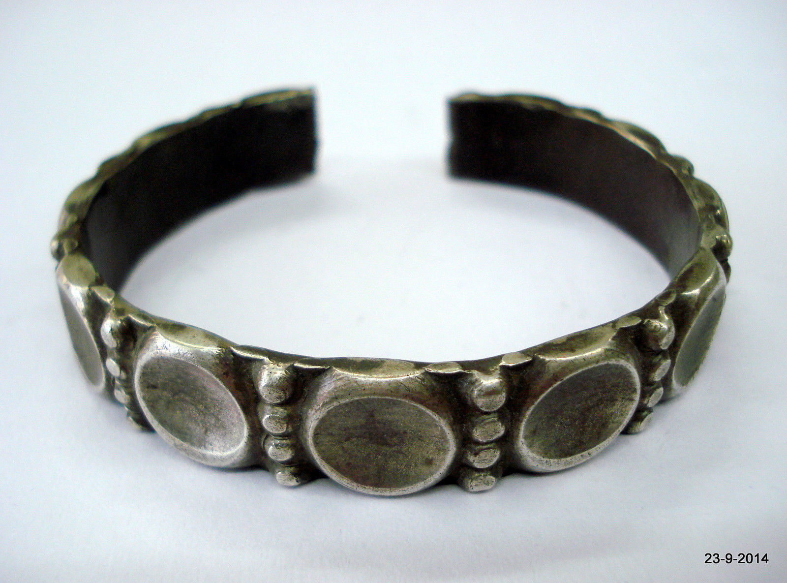 vintage antique tribal old silver bracelet bangle cuff for teen girls gift