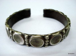 vintage antique tribal old silver bracelet bangle cuff for teen girls gift - $235.62