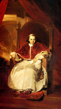 Pope Pius Vii 1819 Portrait Painting By Thomas Lawrence On Canvas Repro Large - $58.50