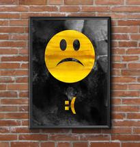 Sad Emoticon Art Print-Emoticons Art Print-Emoji Art-Room Decor-Gift-Poster - $11.82