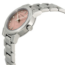NEW Burberry Diamond Pink Dial Stainless Steel Ladies Watch BU9223, image 2