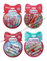LIP SMACKER* 4pc Balm Set SNOW GLOBE ORNAMENT Holiday/Christmas *YOU CHO... - $7.18