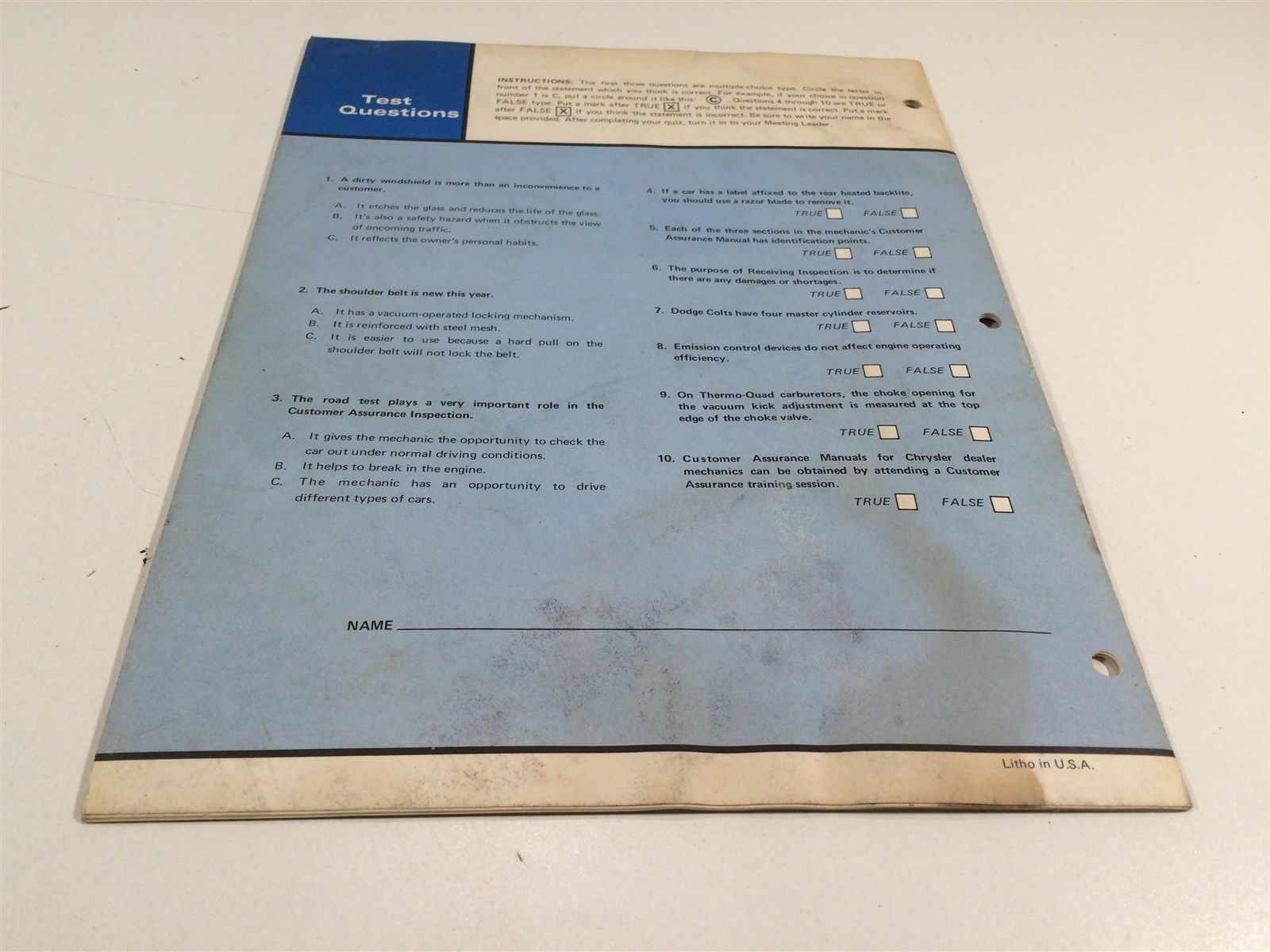 Chrysler Master Technicians Service Reference Book 758 75 8 Customer Assurance