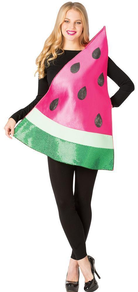 Watermelon Slice Womens Costume Adult Fruit Food Red Halloween Unique GC6186