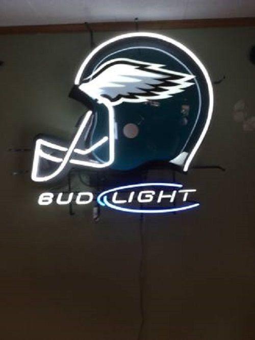 """New Philadelphia Eagles Bud Light Helmet Neon Sign 24""""x20"""""""