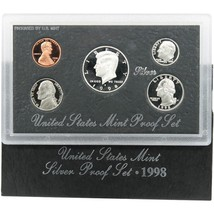 1998-S 90% Silver Proof Set United States Mint Original Government Packa... - £25.52 GBP