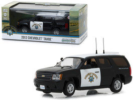 2012 Chevrolet Tahoe California Highway Patrol Black and White 1/43 Diec... - $30.34