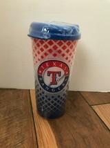 MLB Texas Rangers Whirley Drink Insulated Travel Mug 16oz Tumbler Cup NE... - $12.46