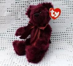 Ty Original Attic Treasures Retired Beargundy the Bear Plush Beanbag MWM... - $5.45