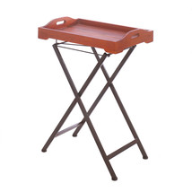 *16171B  Rustic Spirit Folding Wood & Metal Tray Table - $114.35