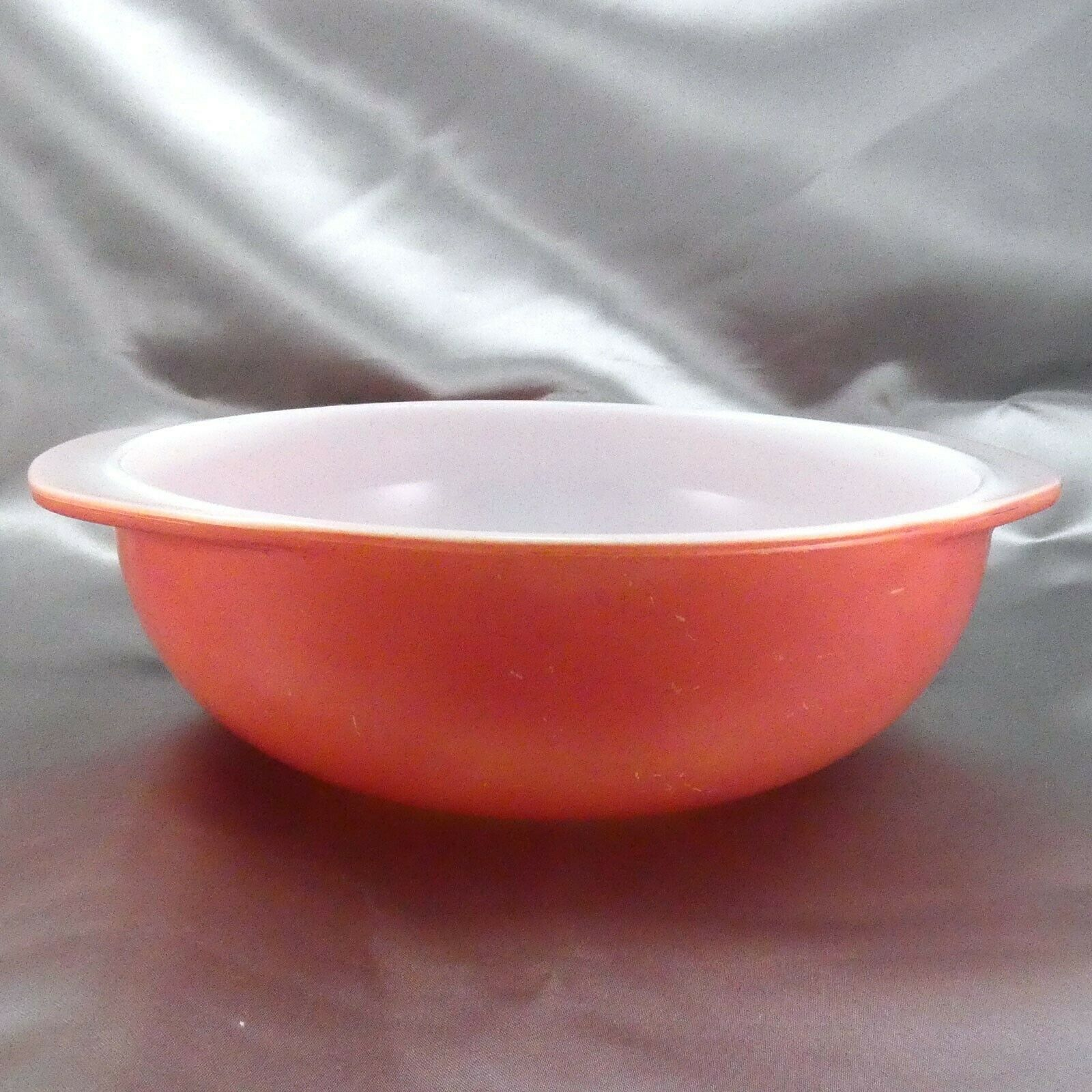 Pyrex 024 Pink Milk Glass Casserole Dish 2qt Serving Bowl ~ Made in the USA image 3