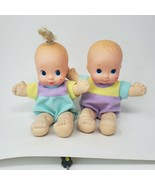 VINTAGE 1992 MATTEL MAGIC NURSERY TRIPLETS BABY BOY & GIRL DOLL DOLLS PL... - $36.47