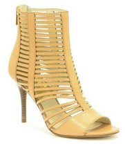 Women's Shoes Michael Kors ODELIA BOOTIE Strappy Sandals Heels Open Toe Suntan - $119.00