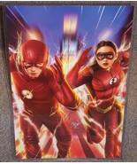The Flash & Jesse Quick Glossy Art Print 11 x 17 In Hard Plastic Sleeve - $24.99