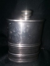 "Visol 'The Duke' Antique Finish Genuine Pewter Flask/ 6oz. -  4.5"" tall - $38.80"