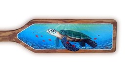 Sea Turtle hand painted handcrafted wooden boat paddle nautical tortoise... - $117.99 CAD