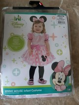 Disney Baby Minnie Mouse Costume Infant Size 6 - 12 Months Dress Headban... - $24.70