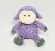 "9 "" Animal Adventure 2014 Bébé Violet Rose Gris Lamb Doux Peluche Jouet ... - $30.36"