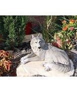 "Ebros Direwolf Ghost Resting Alpha Gray Lone Wolf Large Statue 15.75""Lon... - $46.48"