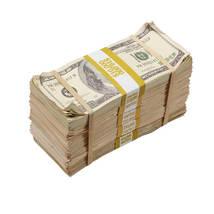PROP MOVIE MONEY - $40,000 - Prop Money BLANK FILLER Aged Fake Play Stacks - $26.99