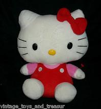 "10 "" Ty Hello Kitty Beanie Buddies Sanrio 2010 Bambola Peluche Peluche Rosa - $16.75"