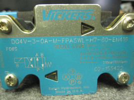 VICKERS PILOT VALVE DG4V-3-0A-M-FPA5WL-H7-60-EN416 image 2